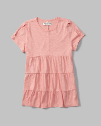 kids tiered cold shoulder tunic tee