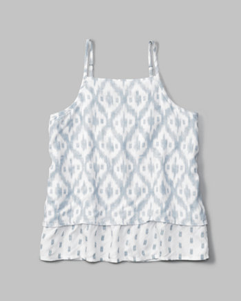 kids printed strappy cami
