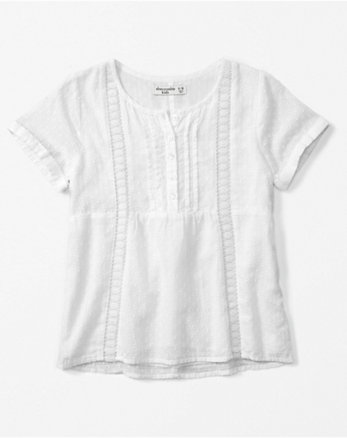 kids lace-trim henley