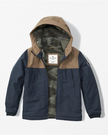 kids hooded technical jacket