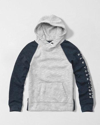 kids side zip hoodie