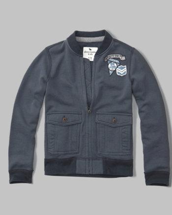 kids flight full-zip sweatshirt