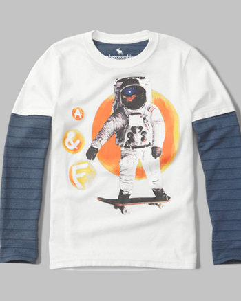 kids twofer graphic long-sleeve tee