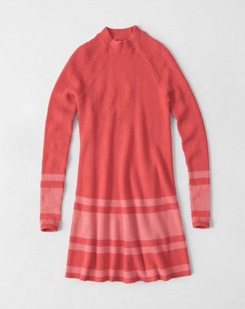 kids mock neck sweater dress
