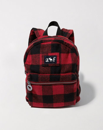 kids plaid backpack